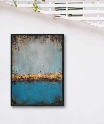 Obraz Akrylowy Jezioro 50 x 70 cm Nowoczesny obraz do salonu lub sypialni. Kup obraz ręcznie malowany