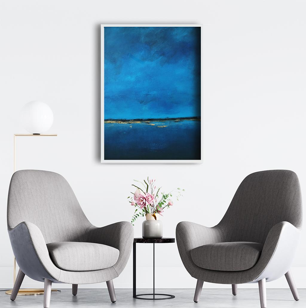 Obraz Akrylowy Brzeg Morski 60 x 80 cm w salonie. Kup obraz do biura