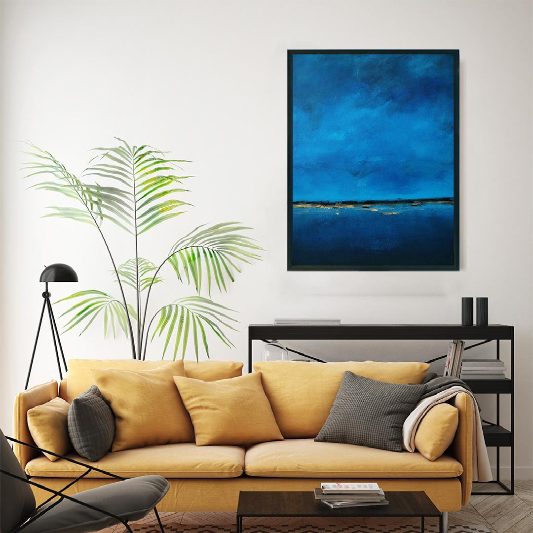 Obraz Akrylowy Brzeg Morski 60 x 80 cm w salonie. Kup obraz do salonu