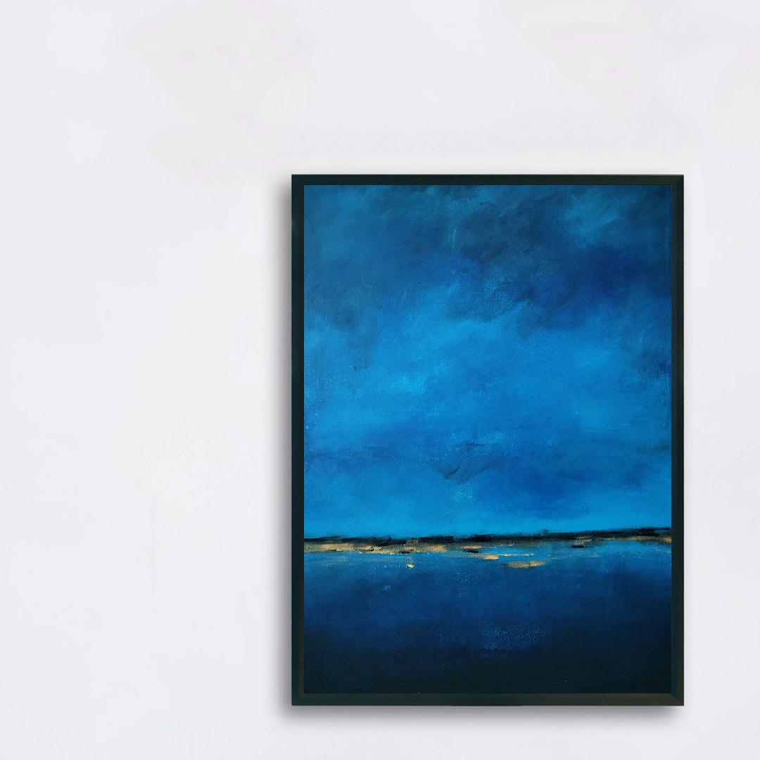 Obraz Akrylowy Brzeg Morski 60 x 80 cm na ścianie białej