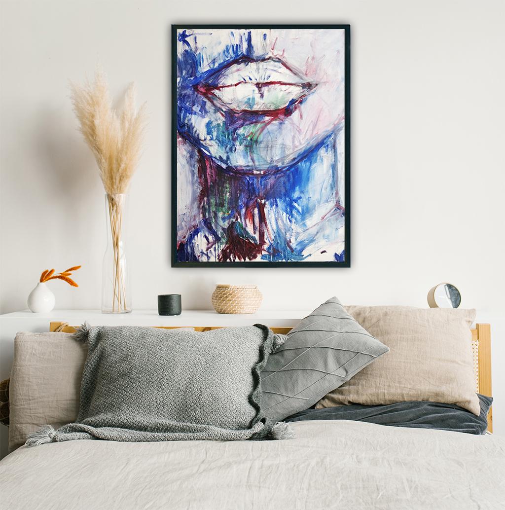 Obraz Akrylowy Milczenie 60 x 80 cm w sypialni