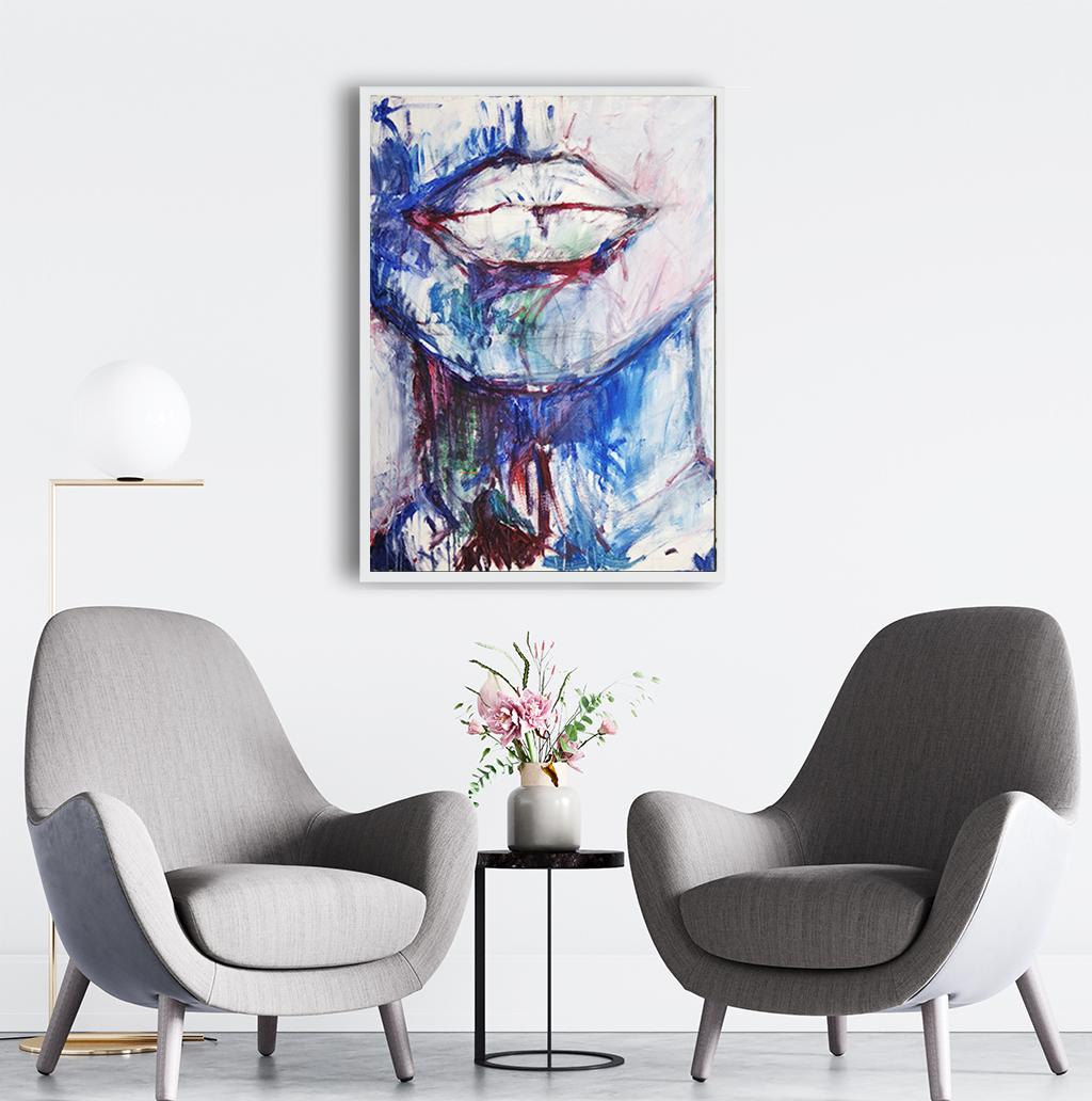 Obraz Akrylowy Milczenie 60 x 80 cm w biurze