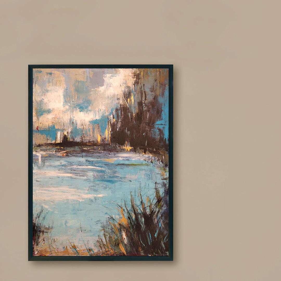 Obraz Akrylowy Organika 60 x 80 cm na ścianę brązową. Kup obraz do brązowego wnętrza