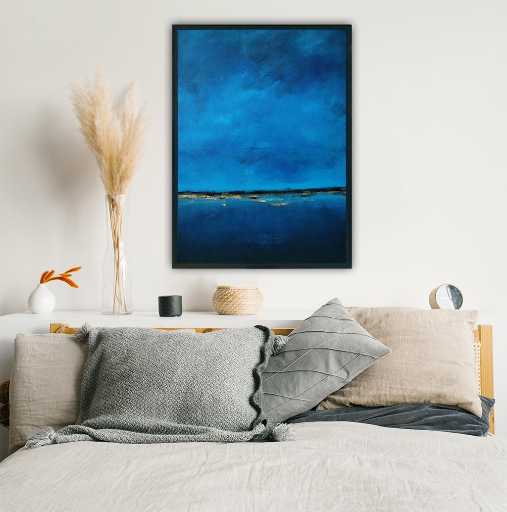 Obraz Akrylowy Brzeg Morski 60 x 80 cm w salonie. Kup obraz do salonu nad komodę