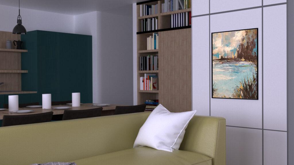 Obraz akrylowy na ścianie w salonie. Możliwość kupna obrazu ze zdjęcia na promocji