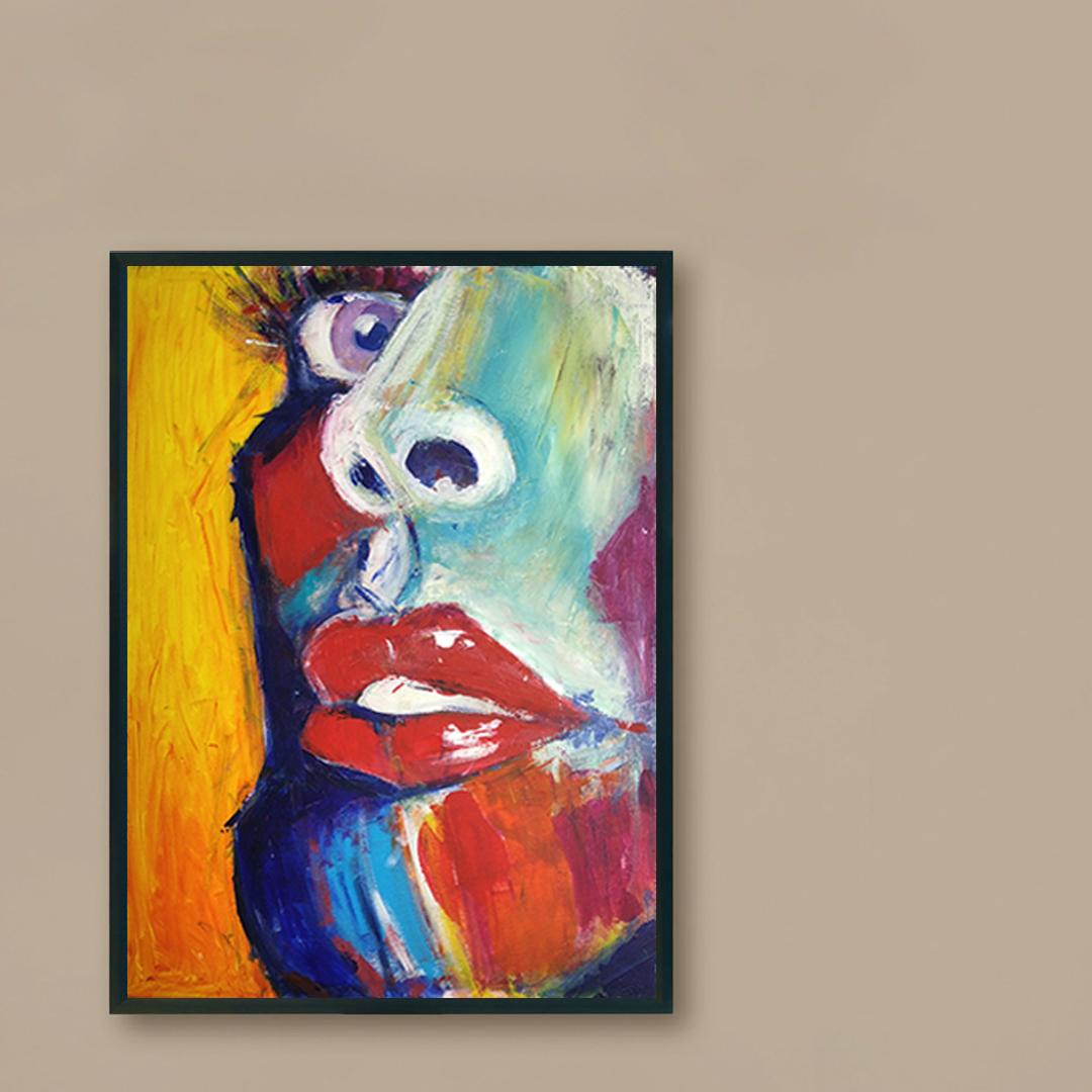 Obraz Akrylowy Zbliżenie 60 x 80 cm obraz na brązowej ścianie