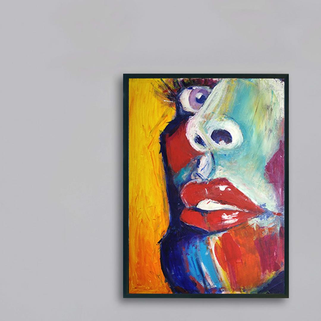 Obraz Akrylowy Zbliżenie 60 x 80 cm obraz na szarej ścianie