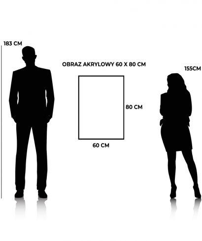 Proporcje wielkości obrazu akrylowego