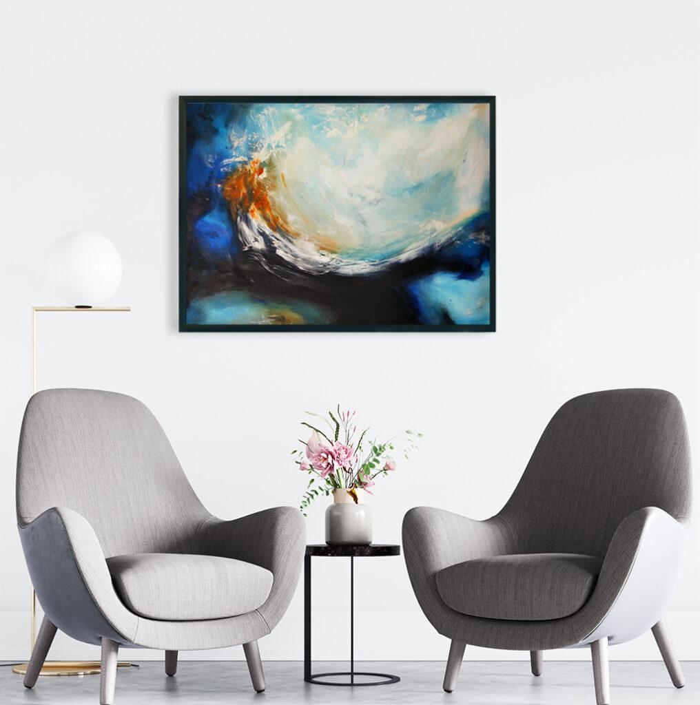 Obrazy ręcznie malowane na ścianę do biura. Obraz ,morze