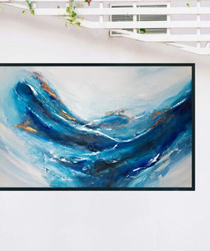 Abstrakcyjny obraz do salonu do kupienia online. Zamów duzy obraz do salonu