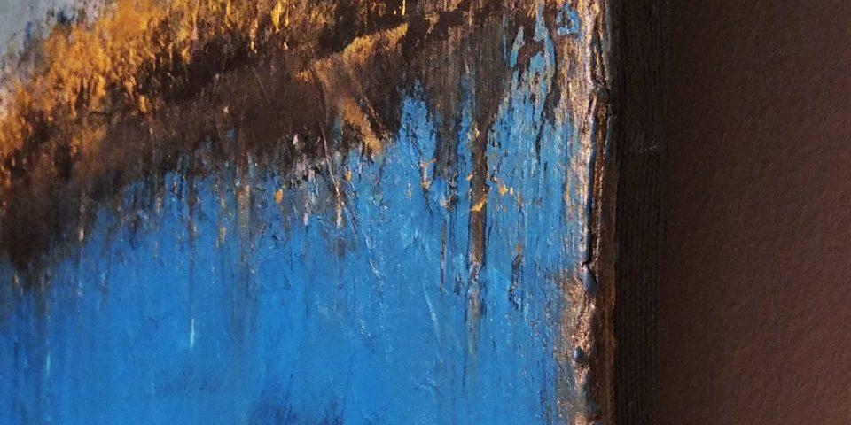 Detal obrazu Akrylowego ręcznie malowanego