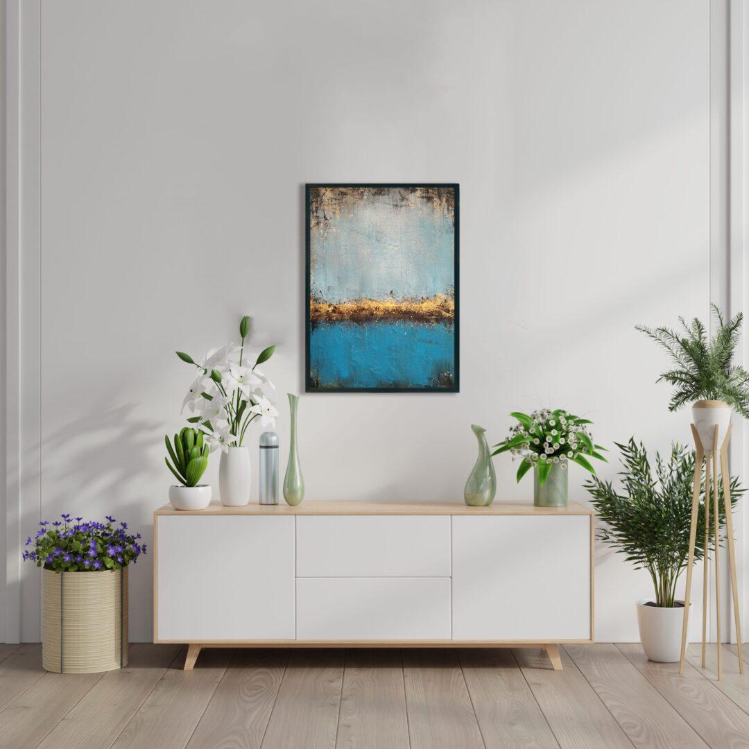 Obraz Akrylowy Jezioro 50 x 70 cm nad komodą