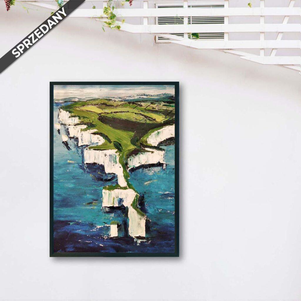 Obraz Olejny Angielski Brzeg 50 x 70 cm