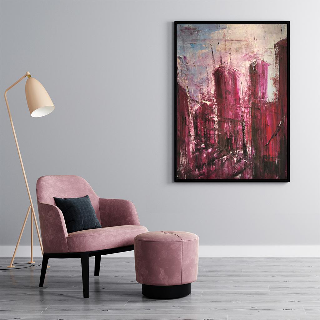 Nowoczesny Akrylowy Obraz Tulipany do biura architektonicznego