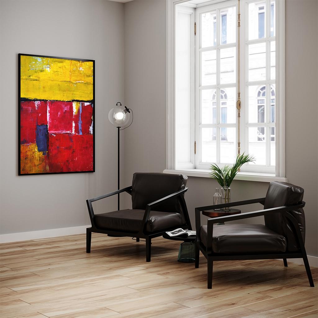 Nowoczesny Akrylowy Obraz Tulipany do Twojego biura