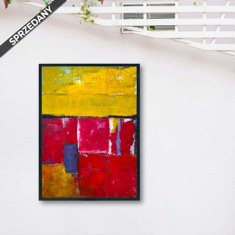 Obraz Akrylowy Tulipany 60 x 80 cm Sprzedany. Obraz akrylowy ręcznie malowny do wnętrza domu/
