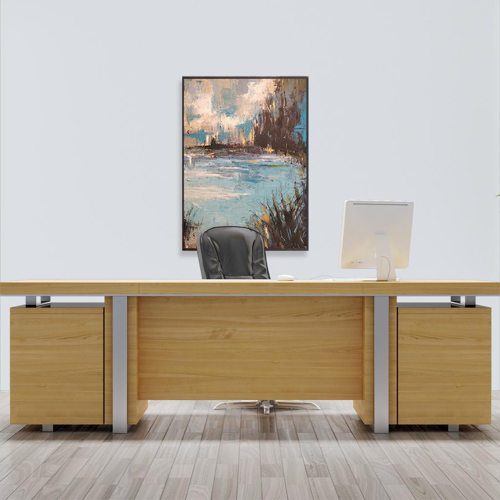 Obrazy ręcznie malowane do gabinetu szefa