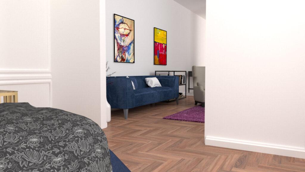 """Dlaczego warto powiesić stylowy obraz w sypialni?  Zmysłowość obrazu dostępnego na vangogi.pl, to cecha typowych obrazów do kobiecej sypialni. Ten oryginalny obraz należu do serii """"Postać"""". Duży obraz akrylowy, na którym kobiece kształty wydobywane są za pomocą czarnych wyrazistych ruchów farb. Kobieca sylwetka jest w centralnym położeniu w stosunku do kontrastowego ciemnego tła. Dlatego obraz z pewnością będzie górował i wyróżniał się na tle jasnej ściany. Obraz wprowadzi odpowiedni nastrój do tak prywatnej strefy mieszkania jaką jest sypialnia."""