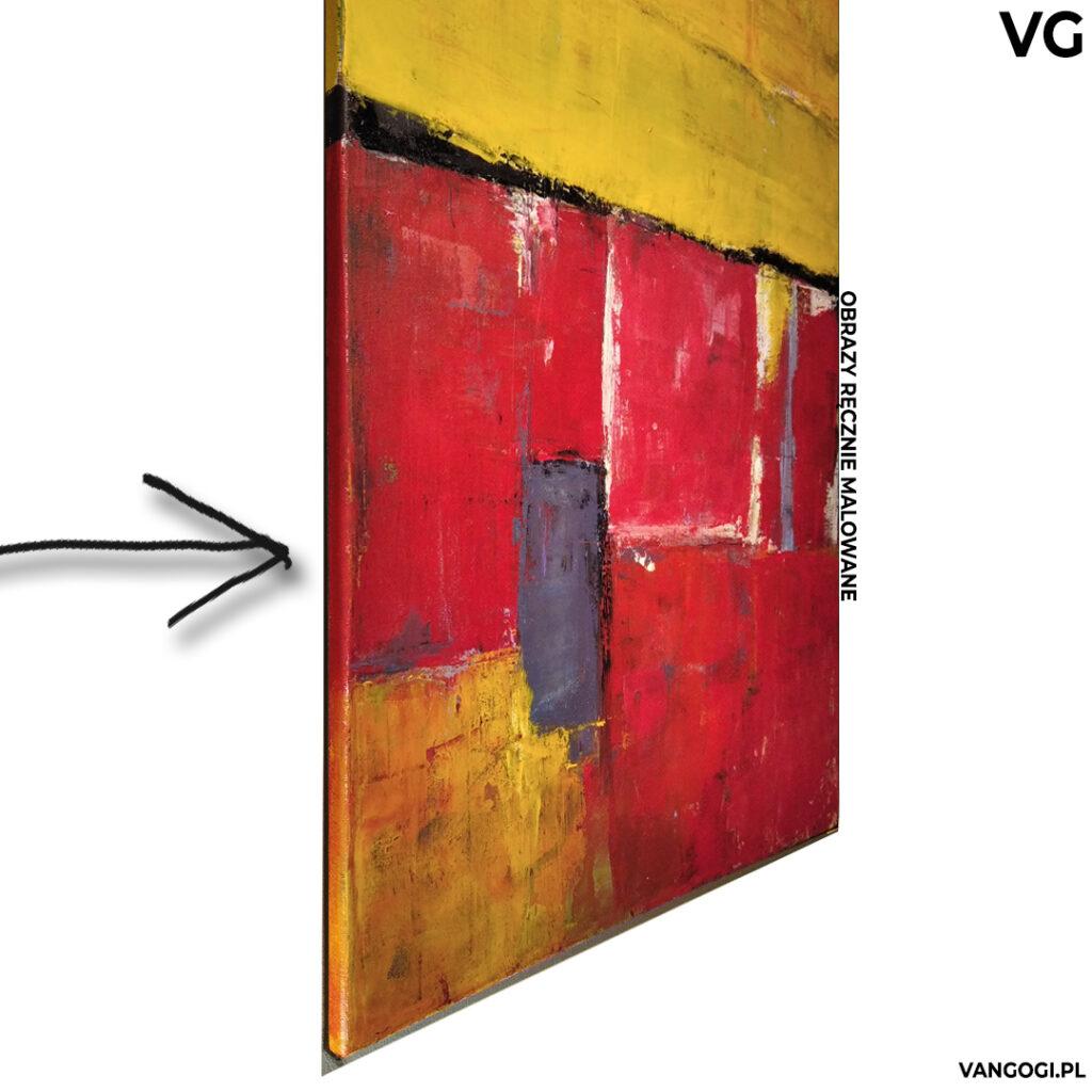 Obraz 3d bez ramy. Obraz z ramą obmalowaną na kolory obrazu. Brak ramy