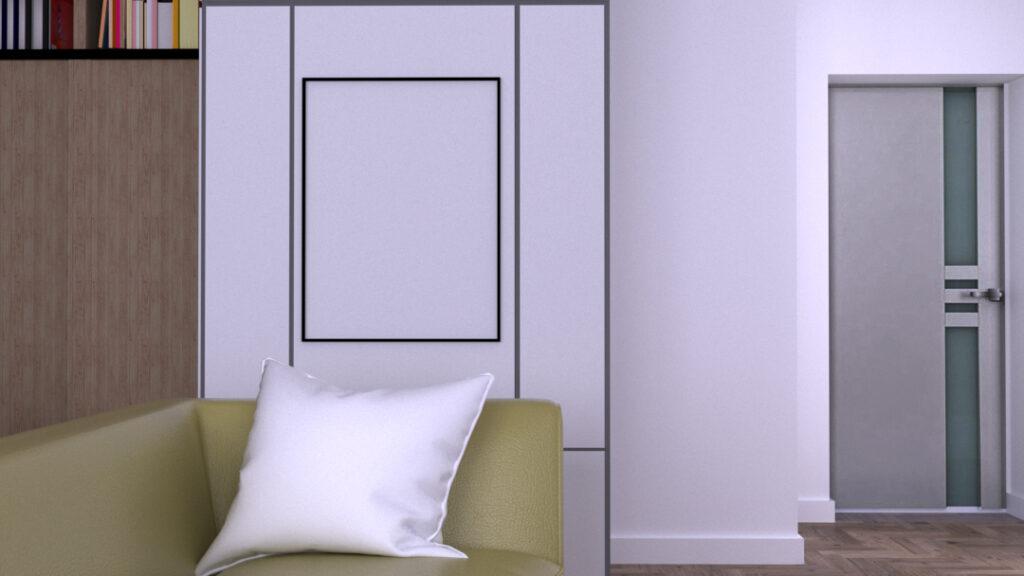Miejsce w salonie w którym warto powiesić nowy ręcznie namalowany obraz