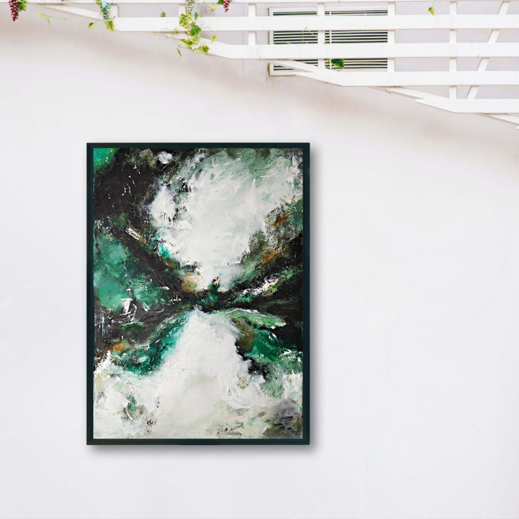 Ręcznie malowany obraz akrylem, który można zakupić online w galerii obrazów do wnetrza domów, mieszkań. Obraz ręcznie malowany do salonu lub sypialni oraz nad komodę. Kup obraz akrylowy.