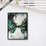 Zamów duży nowoczesny obraz, który pasuje również do chłodnego wnętrza. Obraz ręcznie namalowany.