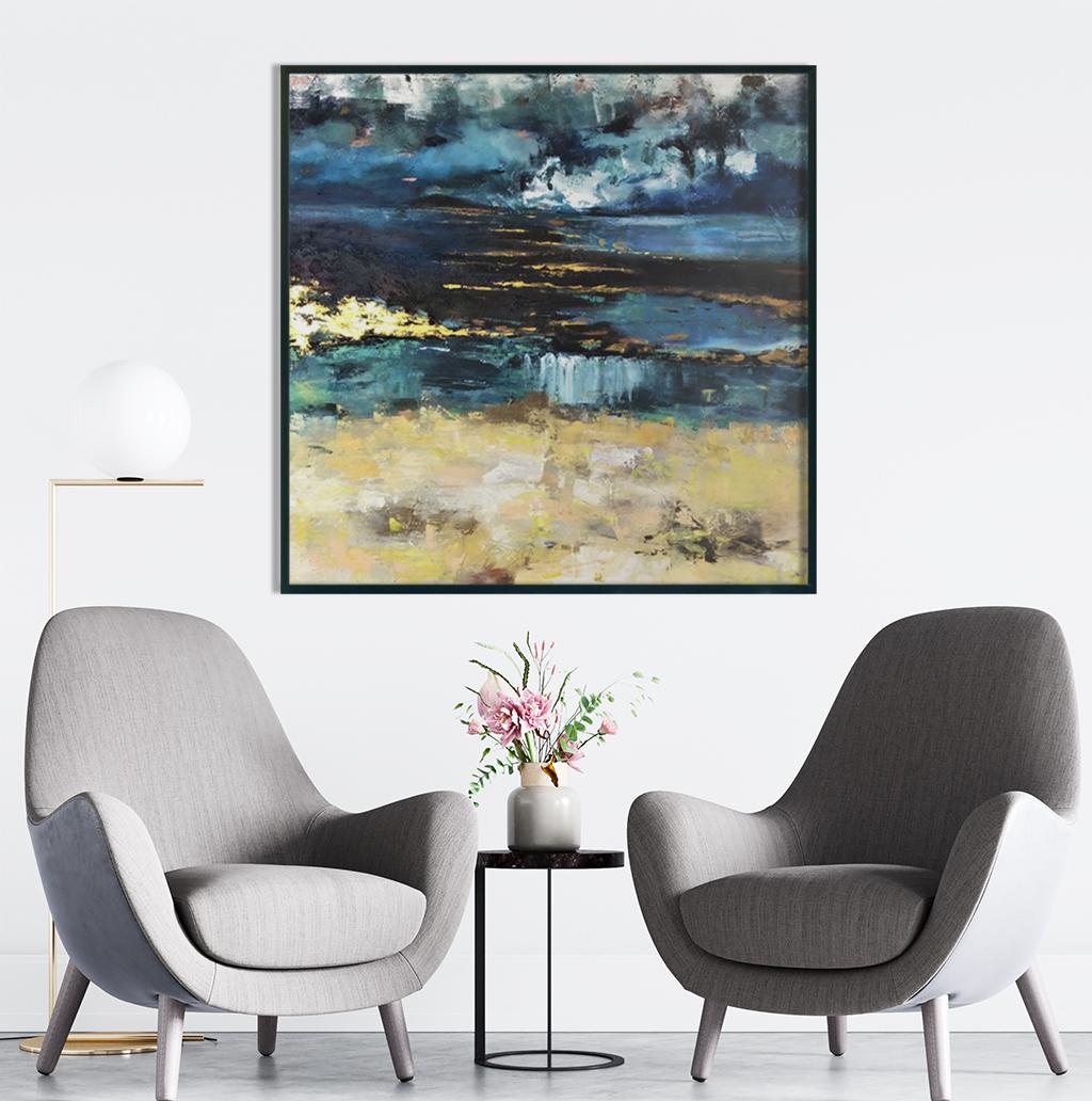 Nowoczesny obraz abstrakcyjny do nowoczesnego wnętrza biura i gabinetu