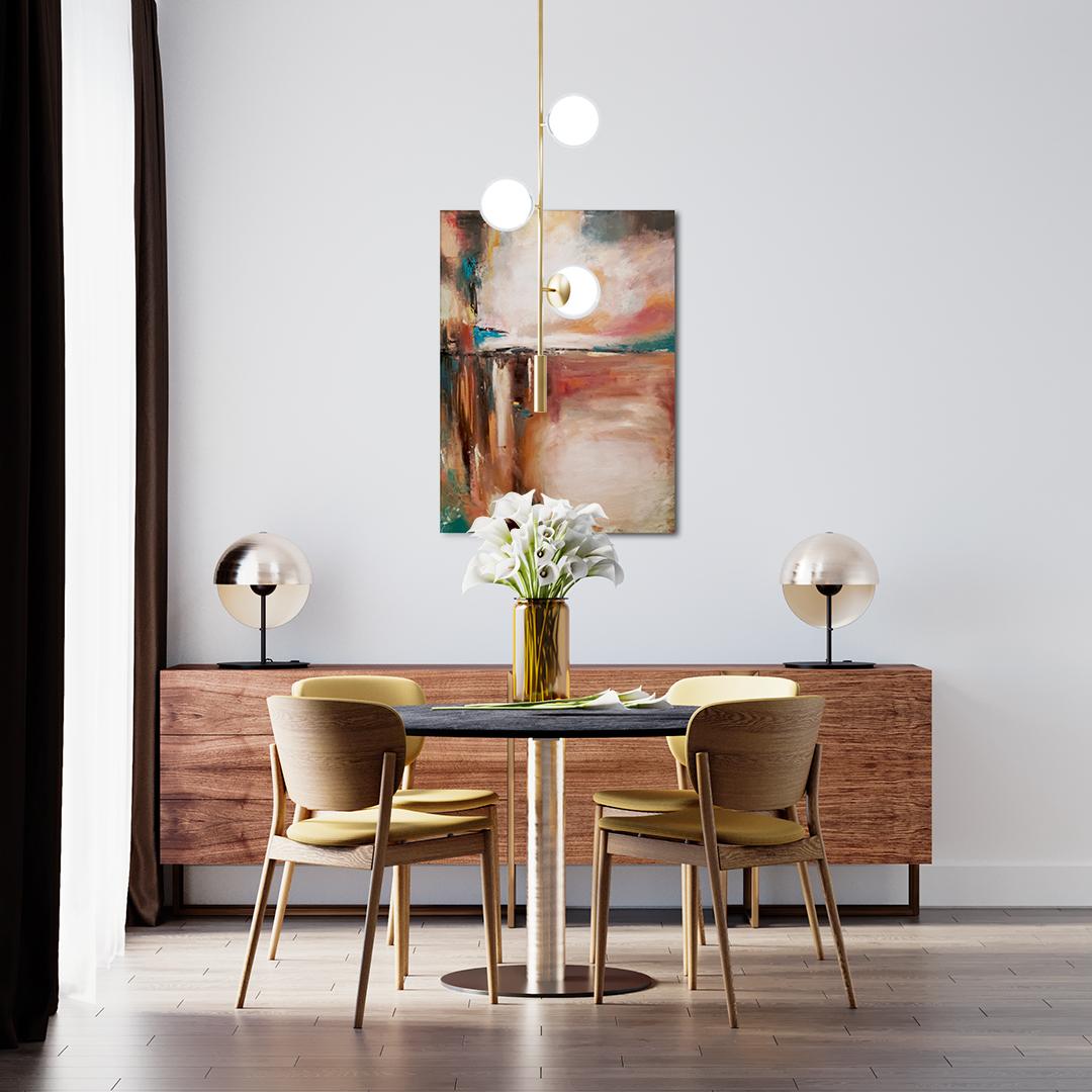 Obraz Olejny Nadzieja 50 x 70 cm w jadalni