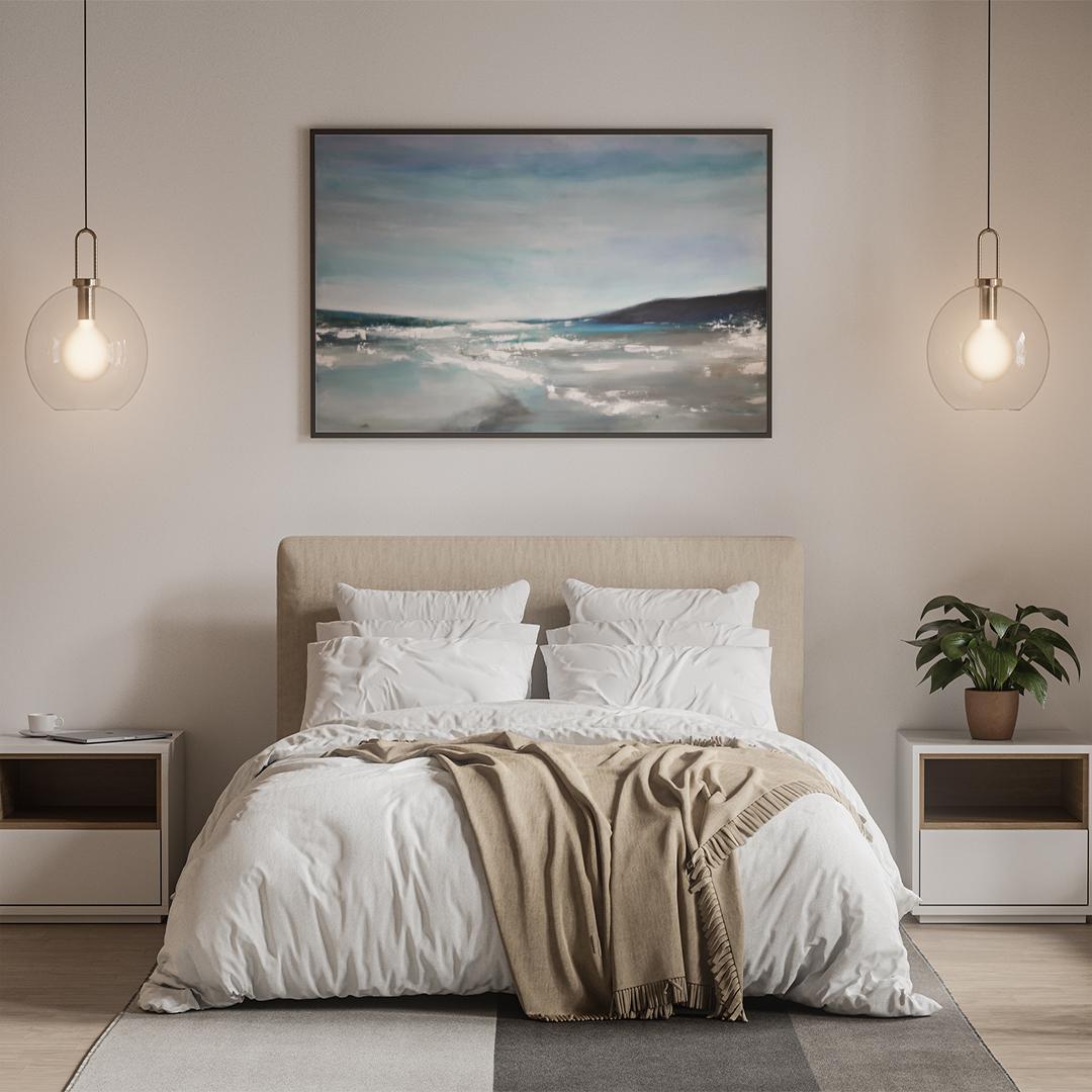 krajobraz morski do powieszenia na ścianie w sypialni