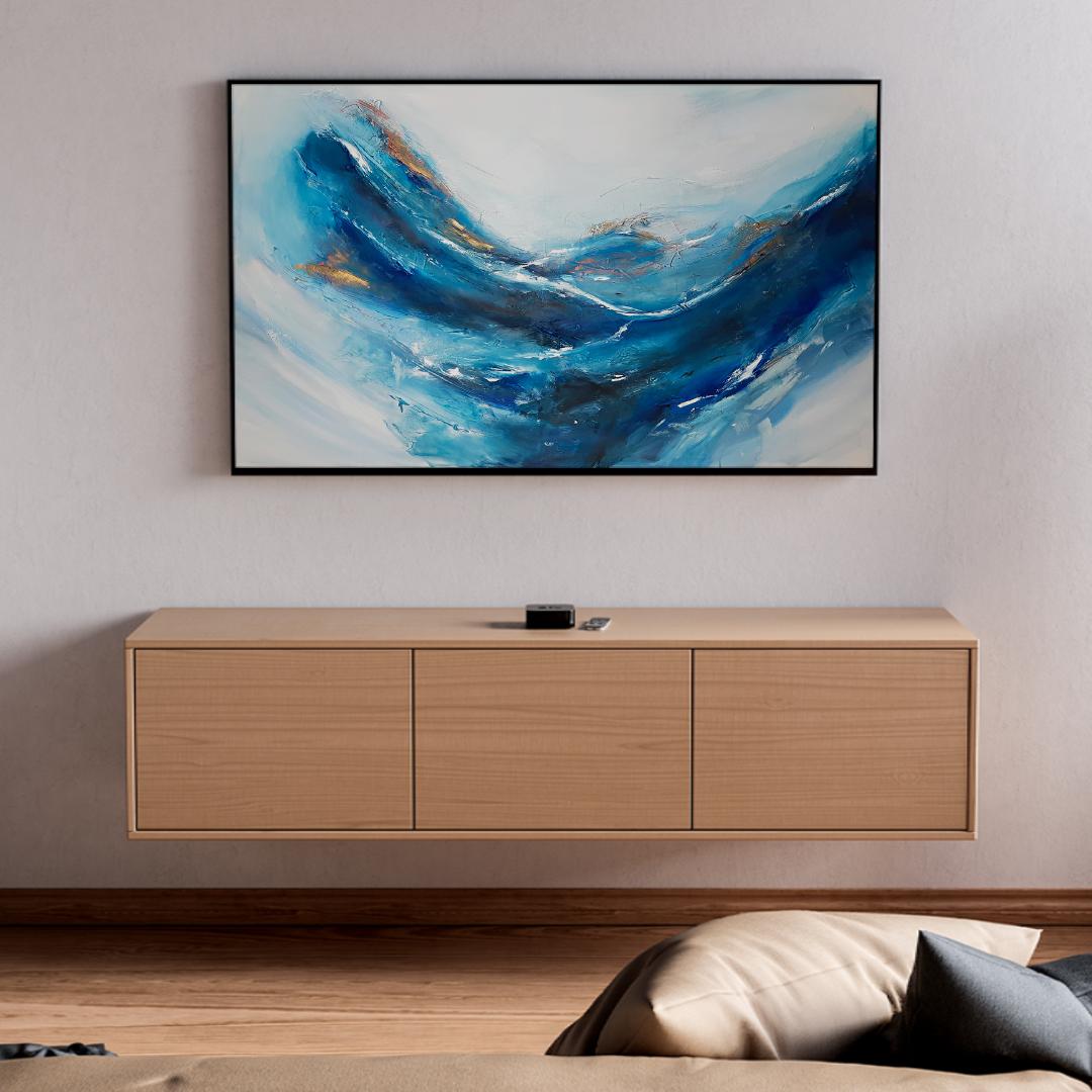 Abstrakcyjny obraz do salonu. Nowoczesny obraz na ścianę do kupienia online