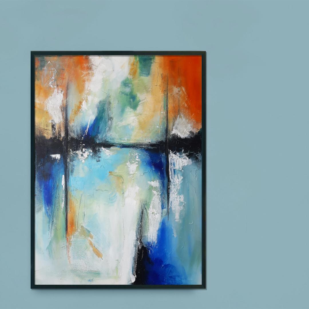 Nowoczesny, abstrakcyjny obraz do salonu