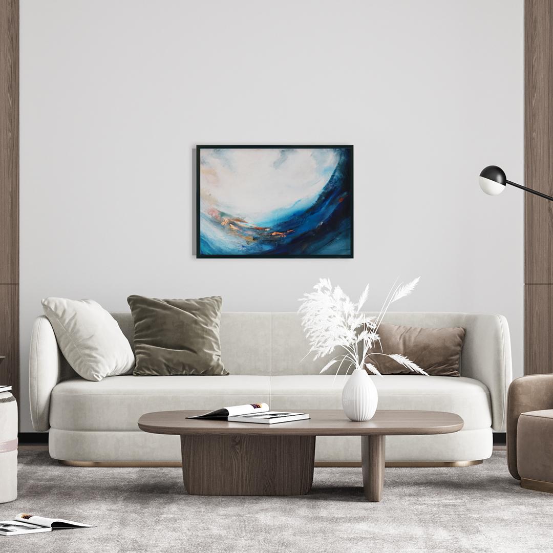 Obrazy ręcznie malowane na ścianę do salonu. Obraz ,morze
