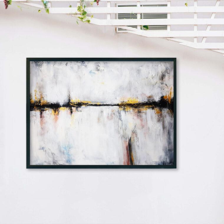 Abstrakcyjny obraz do salonu