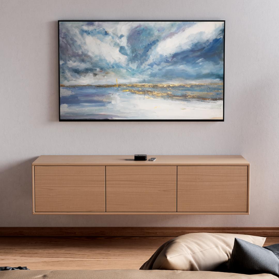 Duży ręcznie malowany pejzaż morski krajobraz . Obraz morski pejzaż online. Obrazy do salonu, sypialni. Galeria sztuki online z obrazami do kupienia.