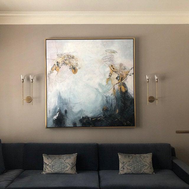 ręcznie malowane obrazy akrylowe na sprzedaż. Obraz na ścianę do sypialni