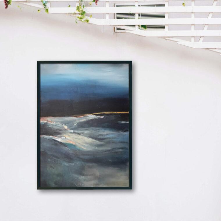 Abstrakcyjny obrazy do salonu. Ręcznie malowane obrazy akrylowe na sprzedaż
