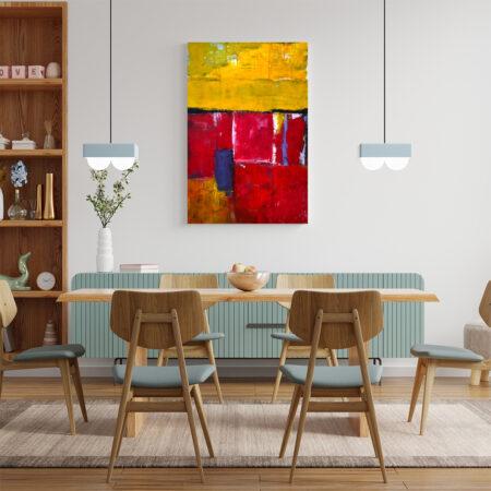 abstrakcyjny obraz do jadalni