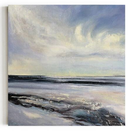 Autorski Obraz Morski Krajobraz Ręcznie Malowany